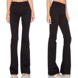 J Brand • High Rise Maria Flare Jeans Black